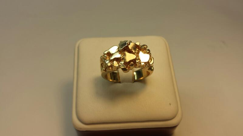 "14k Yellow Gold ""Nugget"" Ring 7dwt - Size 9"