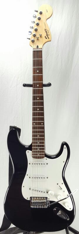 Fender Squier Stratocaster Electric Guitar w/Guitar Strap