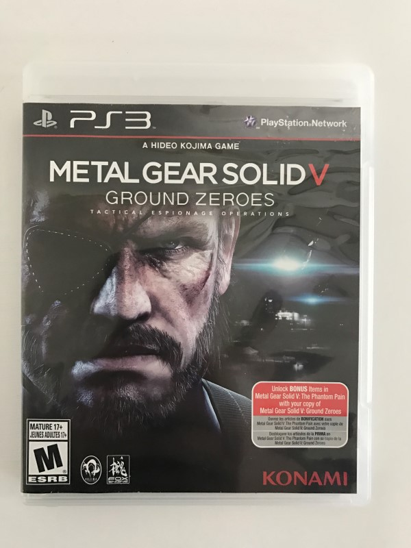 SONY PLAYSTATION 3 METAL GEAR SOLID V: GROUND ZEROS PS3