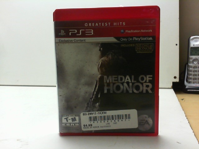 SONY Sony PlayStation 3 Game MEDAL OF HONOR PS3
