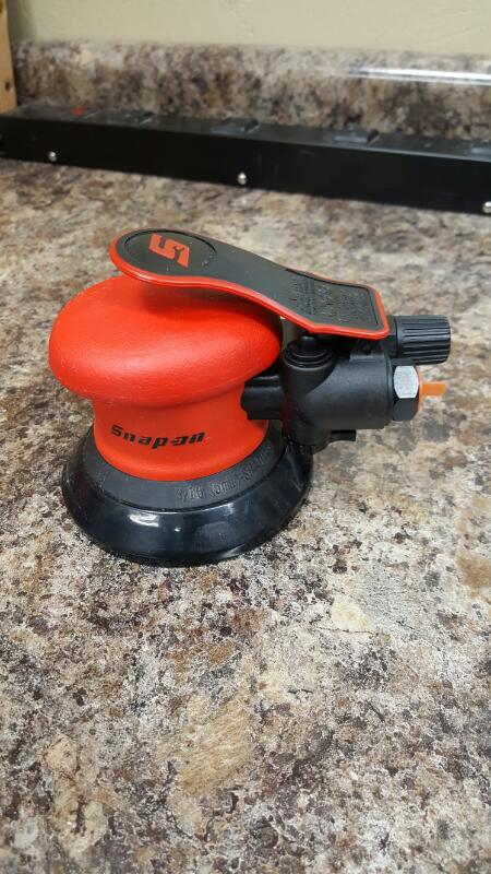 "Snap-On PS4612 6"" Low Vibration Random Orbital Palm Sander"