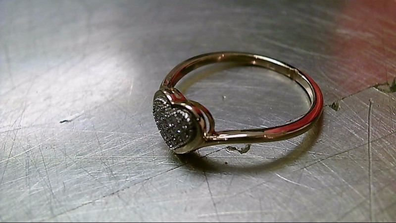 Lady's Diamond Fashion Ring 16 Diamonds .16 Carat T.W. 10K Yellow Gold 1.7g