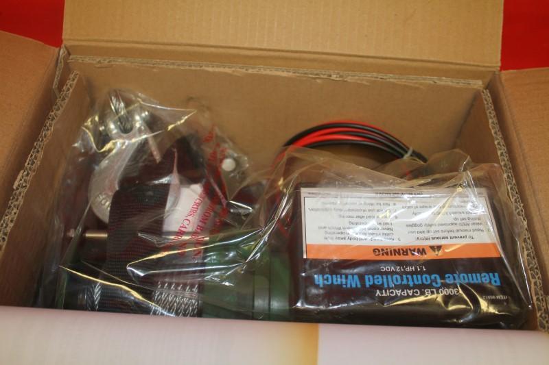 Chicago Electric 3000lbs 12V Electric Recovery Winch ATV,UTV Wireless Remote