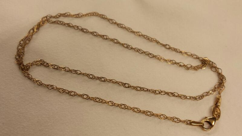 "20"" Gold Chain 14K Yellow Gold 1.39dwt"