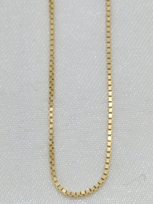 "18"" Gold Box Chain 14K Yellow Gold 1.1g"