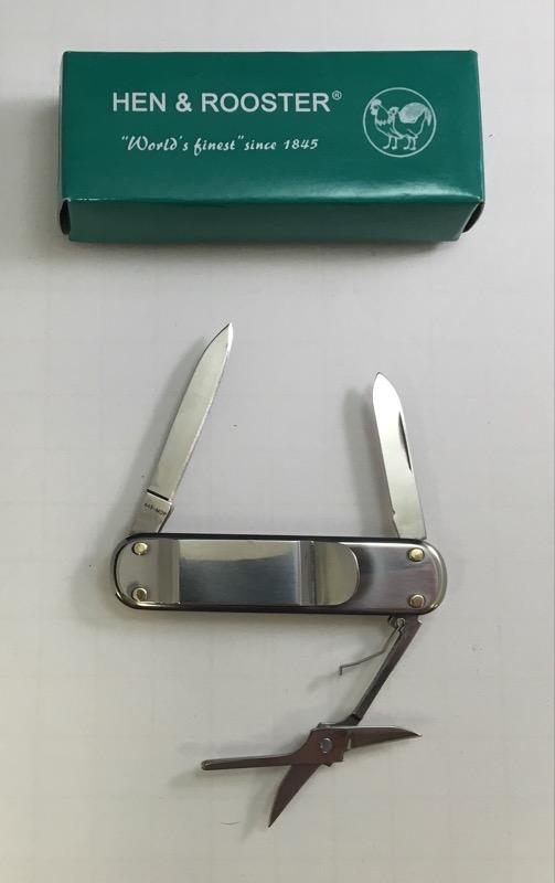 Hen & Rooster Gentelman's Money Clip Pocket Knife/Multi-Tool 443-MOP