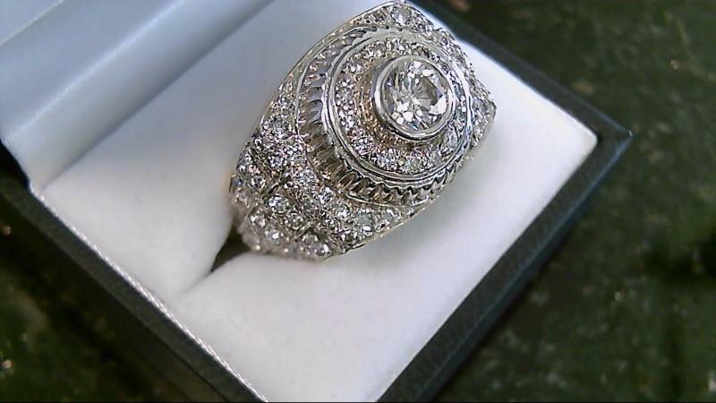 Based on POPULAR WATCH DESIGN 99 Diamond 14K Gold Cluster Ring