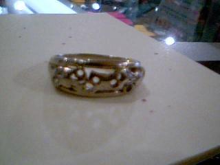 Lady's Gold Wedding Band 10K White Gold 3g