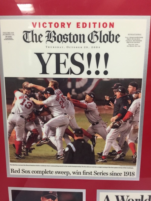 THAT'S GREAT NEWS Sports Memorabilia RED SOX VOCTORY