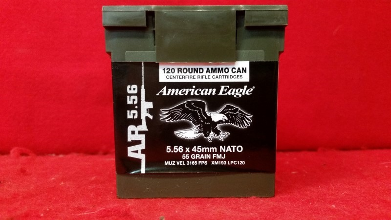 American Eagle 5.56mm NATO 55gr FMJ - 120rd Box