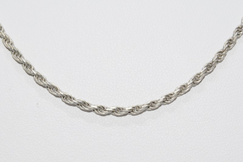 "24"" Sterling Silver 2mm French Rope Chain Necklace"