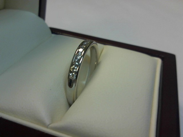 Lady's Diamond Wedding Band 10 Diamonds .30 Carat T.W. 14K White Gold 1.7dwt