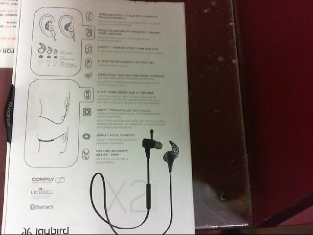 JAYBIRD Headphones X2 wireless earphones never used!