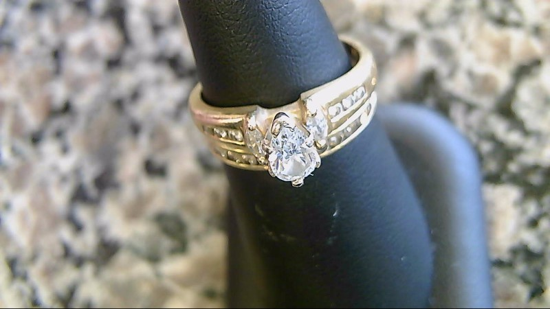 Lady's Diamond Wedding Set 21 Diamonds .57 Carat T.W. 10K Yellow Gold 5.3g