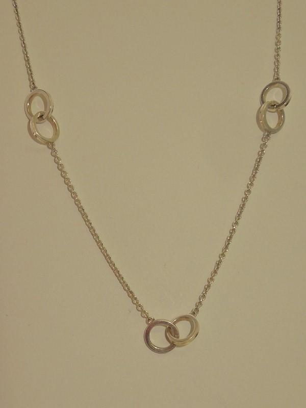"Tiffany & Co. 16"" Silver Fashion Chain 925 Silver 7.2g"