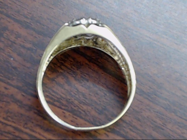 VINTAGE NATURAL DIAMOND CLUSTER RING SOLID REAL 14K GOLD MEN SIZE 12