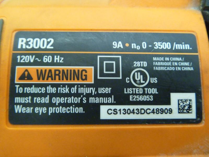 RIDGID R3002 FUEGO 9 AMP CORDED ORBITAL RECIPROCATING SAW