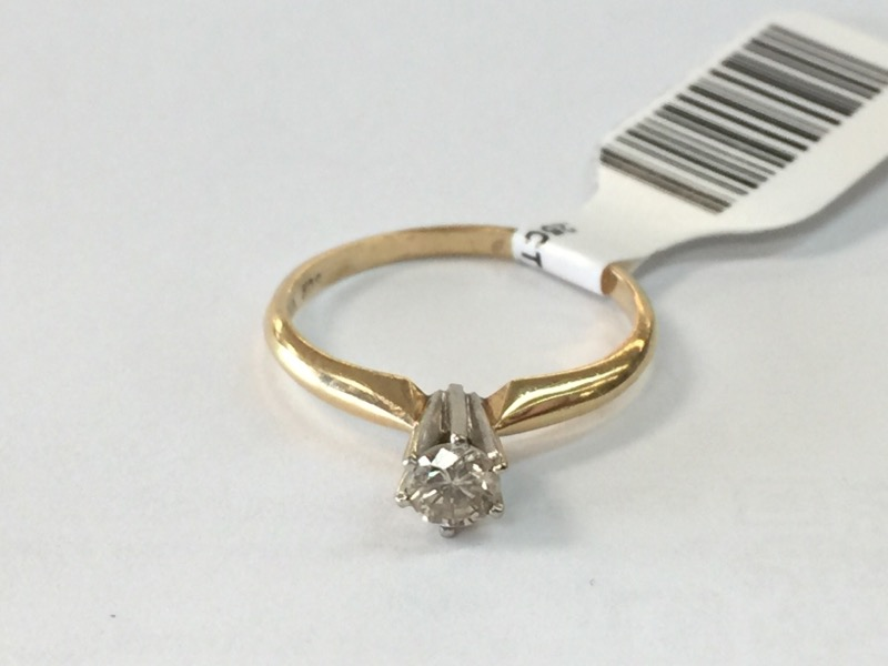 .25CT_ROUND_SOLITAIRE Lady's Diamond Solitaire Ring ENGAGEMENT_RNG .20 CT.