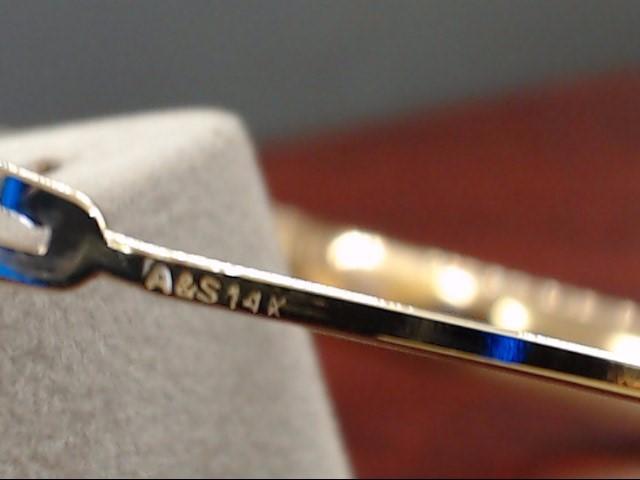 """VINTAGE CRISS CROSS DESIGN BANGLE BRACELET SOLID 14K GOLD 8MM 7.5"""""""