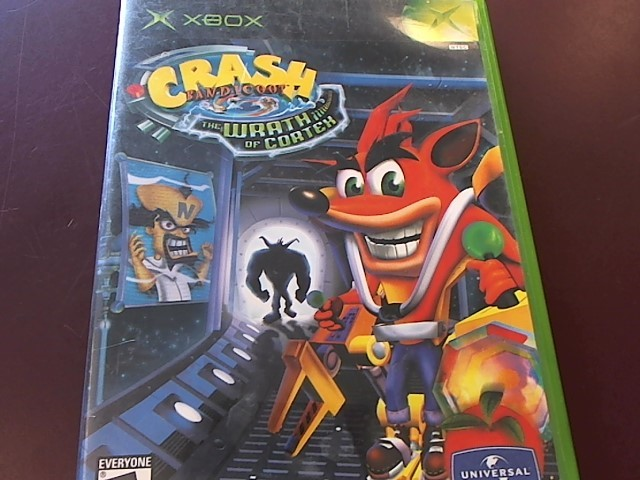 XBOX CRASH BANDICOOT THE WRATH OF CORTEX