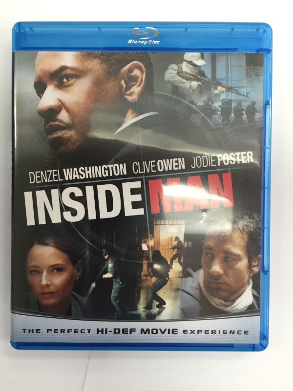INSIDE MAN BLU-RAY ACTION MOVIE W/ DENZEL WASHINGTON