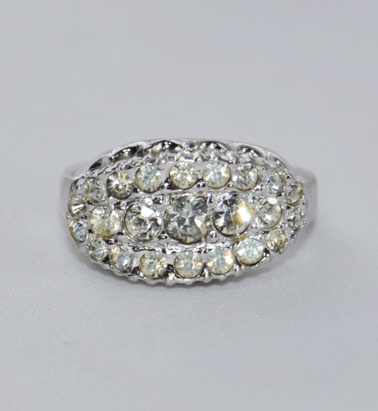 Lady's Silver Ring 925 Silver 4.8g Size:5