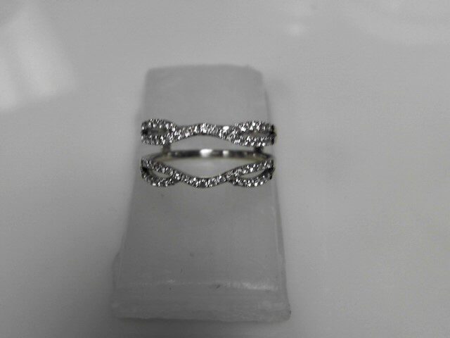 Diamond Ring Guard w 64 Diamonds .64 Carat T.W. 14K White Gold 4.04g