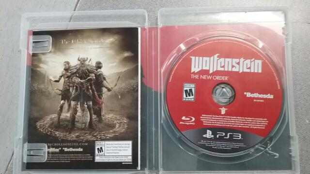 SONY Sony PlayStation 4 Game WOLFENSTEIN THE NEW ORDER - PS4
