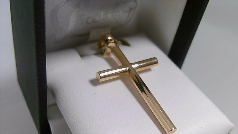 Smooth Cross Yellow Gold 18K Pendant YG