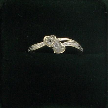 Lady's Diamond Fashion Ring 2 Diamonds .02 Carat T.W. 10K Yellow Gold 1dwt