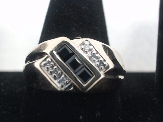 Gent's Diamond Fashion Ring 6 Diamonds .06 Carat T.W. 10K Yellow Gold 3.5g