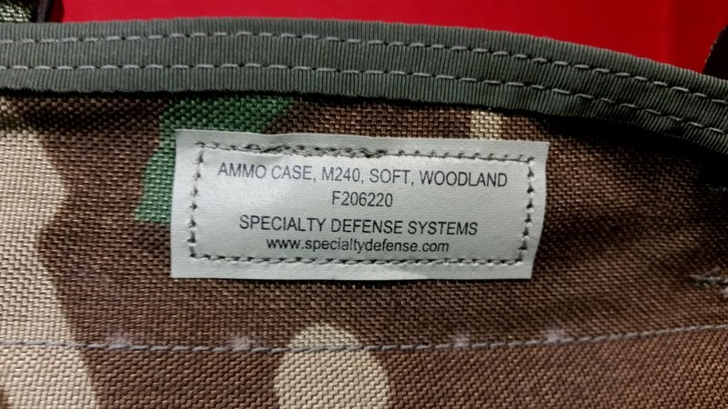M60, M240 300 Round Ammo Case Specialty Defense Systems