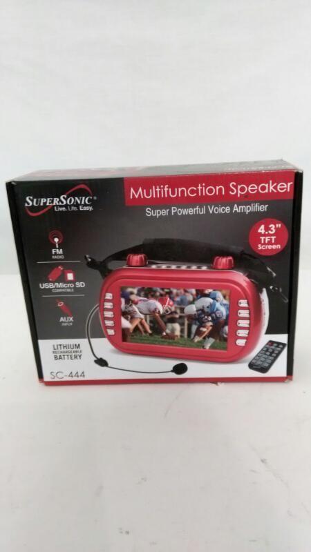 SUPER SONIC MULTIFUNCTION SPEAKER SC-444]