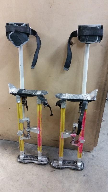 """Sur-Pro Sur-Mag® S2 Dual Pole Magnesium Drywall Stilts 24-40"""" - Large"""