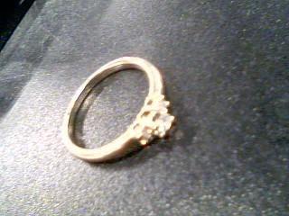 Lady's Diamond Fashion Ring 3 Diamonds .25 Carat T.W. 14K White Gold 3.2g