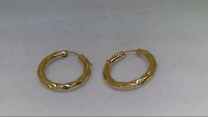Gold Earrings 14K Yellow Gold 0.5g