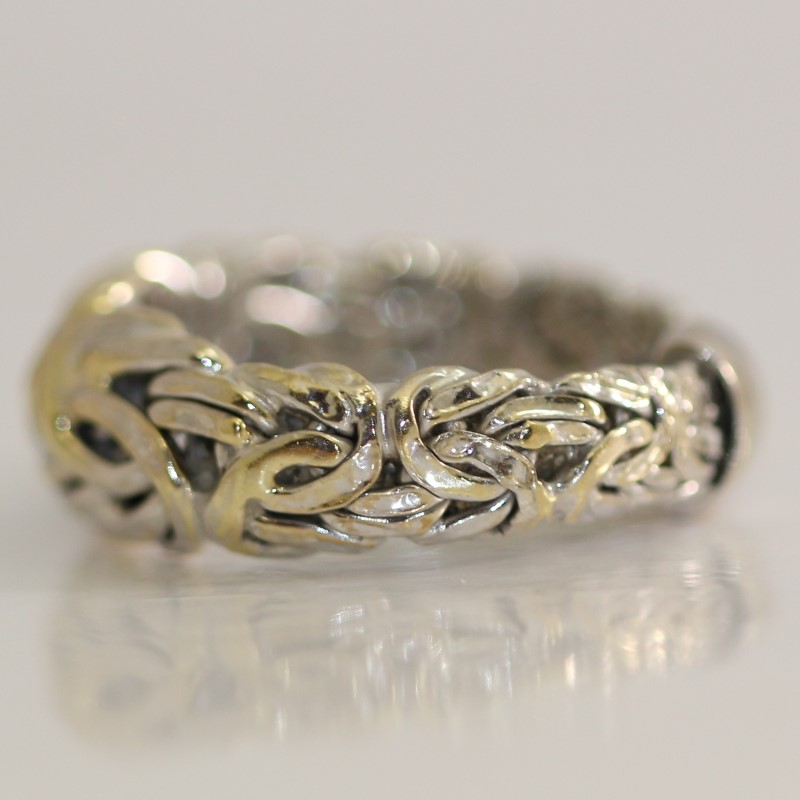 Braided 14K White Gold Ring SIze 7.8