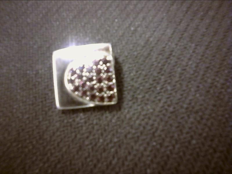 White Stone Silver-Stone Pendant 925 Silver 0.8dwt