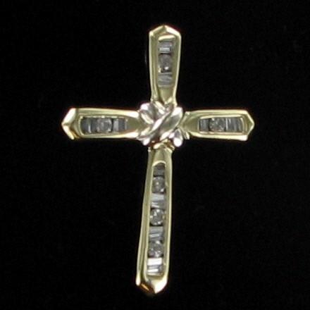 Gold-Multi-Diamond Pendant 26 Diamonds .50 Carat T.W. 10K Yellow Gold 3.1dwt