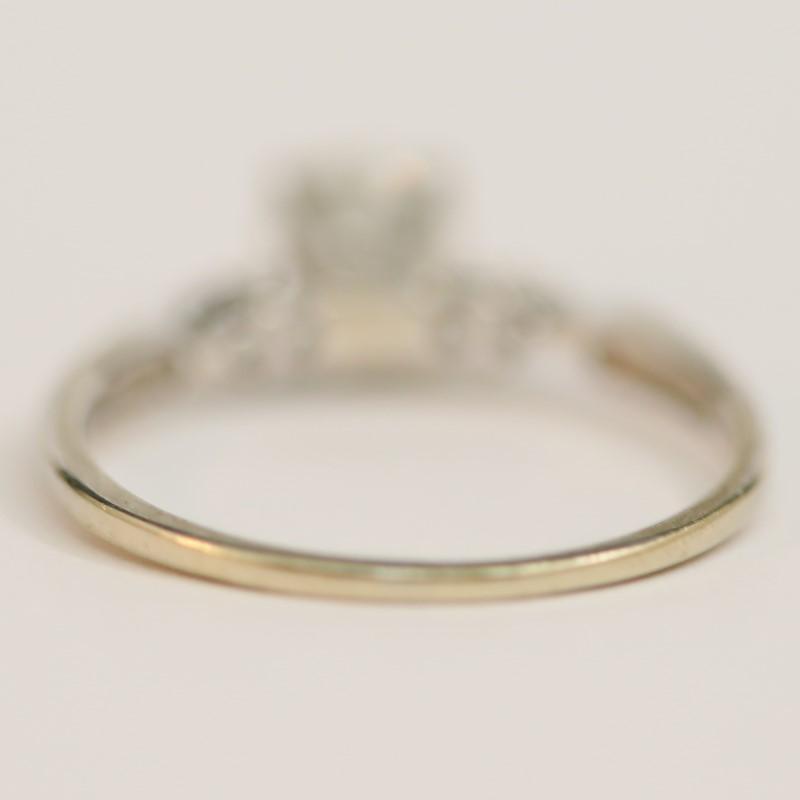 14K White Gold Round Brilliant Cut Diamond Wedding Ring Set Size 9.3