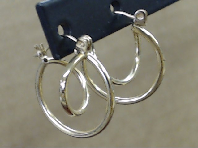 ESTATE SPIRAL CIRCLE HOOP EARRINGS REAL 14K YELLOW GOLD UNIQUE 3/4""