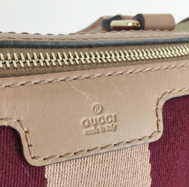 GUCCI WEB ORIGINAL BOSTON BAG 247205 HANDBAG