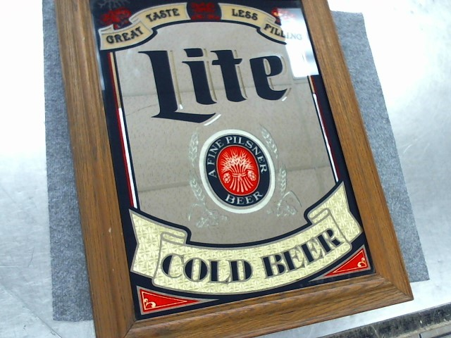 MILLER BREWING COMPANY Sign BEER MIRROR