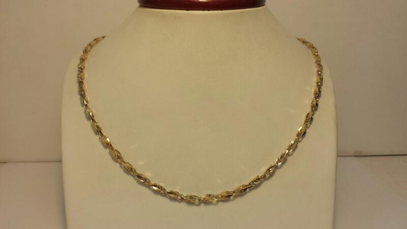 10k Yellow Gold byzantine Chain 7.8dwt - Lenght 18""