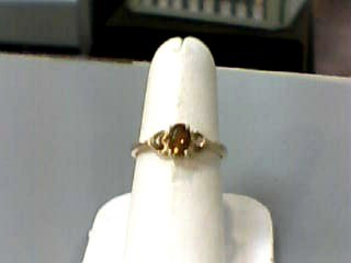 Synthetic Citrine Lady's Stone Ring 10K Yellow Gold 1dwt Size:6.5