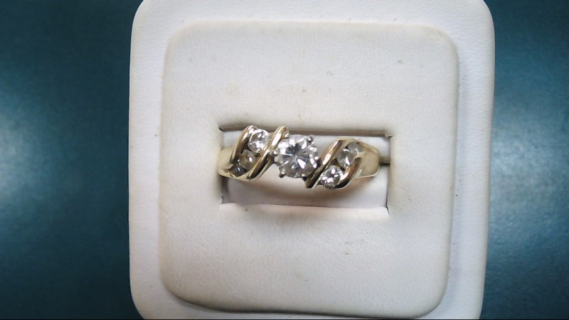 Lady's Diamond Solitaire Ring 7 Diamonds 1.00 Carat T.W. 14K Yellow Gold 5g
