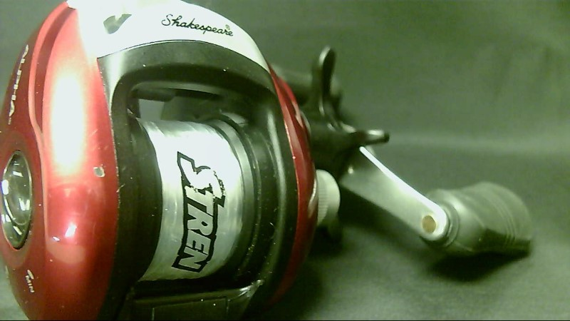 Shakespeare Alpha Low Profile Baitcast Red Reel