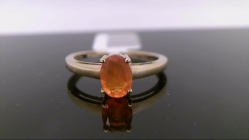 Opal Lady's Stone Ring 14K Yellow Gold 1.7g