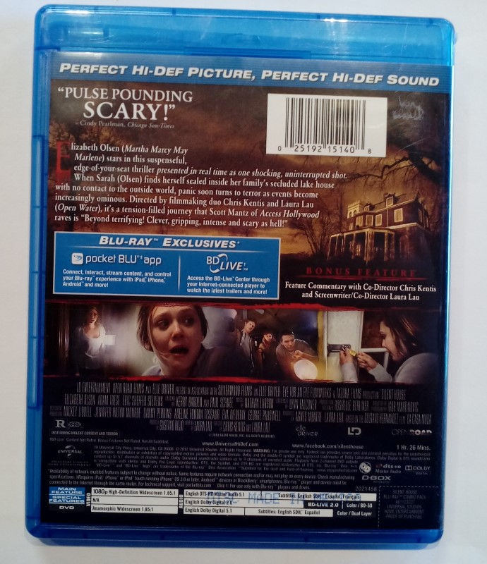 BLU-RAY MOVIE SILENT HOUSE