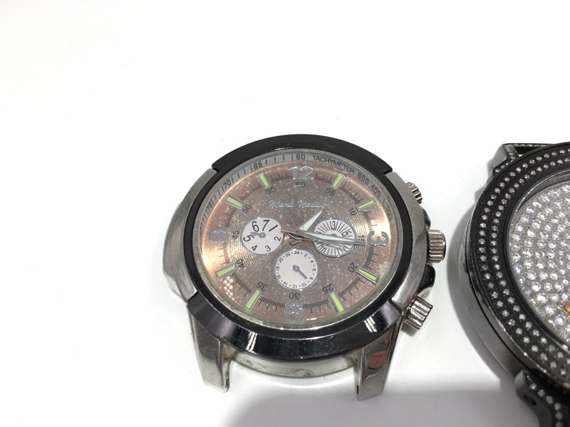 Lot of Two Men's Watch Faces - AS IS - KC Techno & Mark Naimer